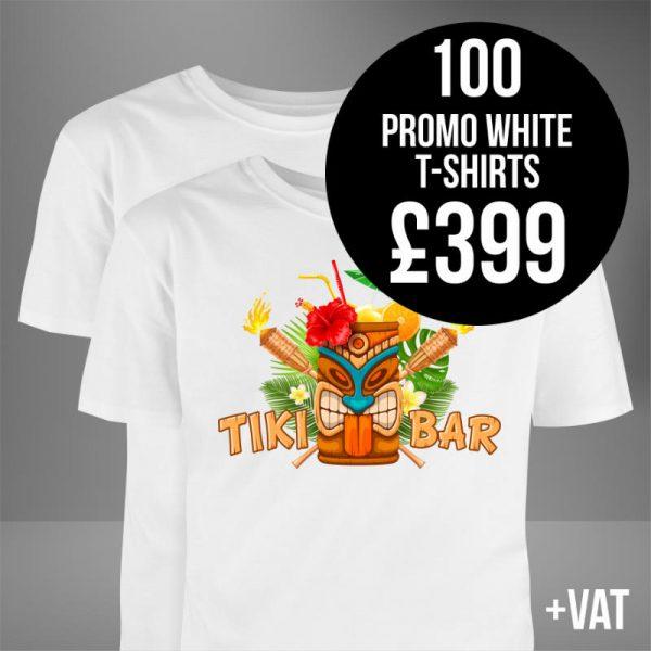 The Print Hive White Promo T-Shirts